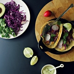 Fish Tacos with Cashew-Avocado Crema