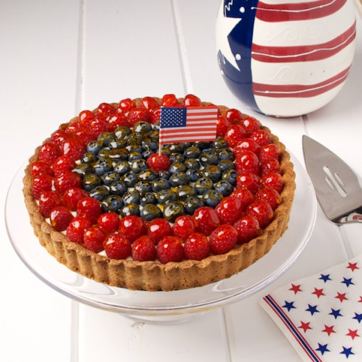 Fourth of July Fruit Tart Recipe
