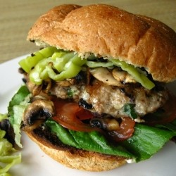 Greek Chicken Burger with Tzatziki Sauce