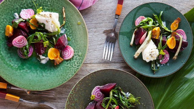 Grilled Beets Burrata Poppy Seed Dressing Recipe
