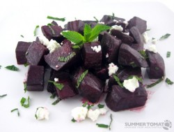 Roasted Beets with Fresh Mint and Chevre