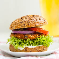 Sweet Potato and Black Bean Veggie Burgers Recipe