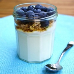Blueberries with Yogurt,
