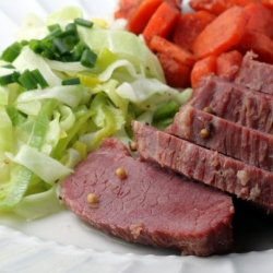 Corned Beef Cabbage and Carrots with Cinnamon