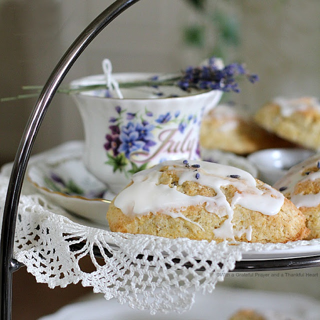Glazed Sweet Lavender Scones Recipe