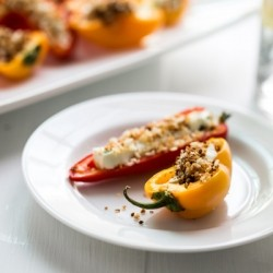 Goat Cheese and Pepper Appetizer Recipe