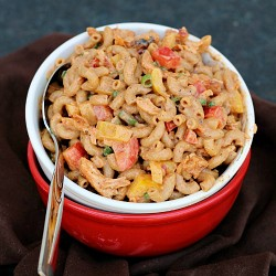 Greek Yogurt BBQ Chicken Pasta Salad