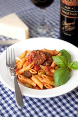 Penne with Sausage Olives and Fennel Recipe