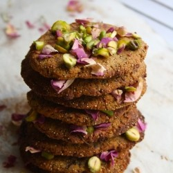 Rose Pistachio Cookies Recipe