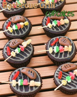 Barbecue Topped Cupcakes Recipe