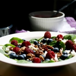 Blueberries Raspberries Mozzarella Salad Recipe