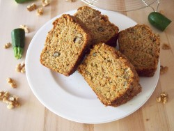 Carrot Zucchini Walnut Bread Recipe