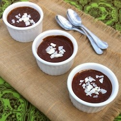 Coconut Chocolate Pudding No Bake Vegan Recipe