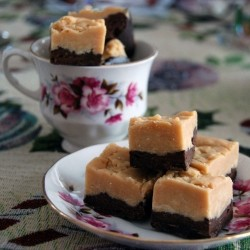 Dark and White Chocolate Peanut Butter Layered Fudge Recipe