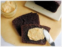 Double Chocolate Loaf with Peanut Butter Cream Cheese