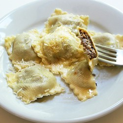 Fresh Ravioli with Marsala Mushrooms