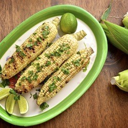 Grilled Corn with Ancho Chili Butter and Lime Recipe