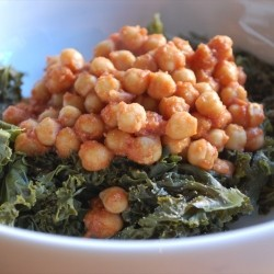 Indian Spiced Chickpeas and Kale