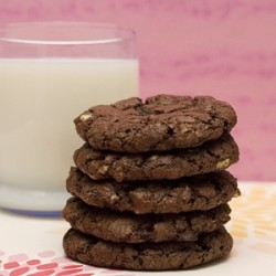 Mint Chocolate Chocolate Cookies