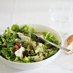 Poached Chicken Salad with Walnuts and Grapes