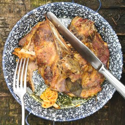 Pork Shoulder with Mustard and Herbs Recipe