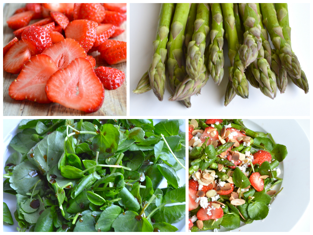 Roasted Asparagus Strawberry Salad with Honey Balsamic Vinaigrette Recipe