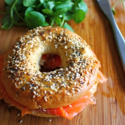 Seeded Bagels with Smoked Salmon
