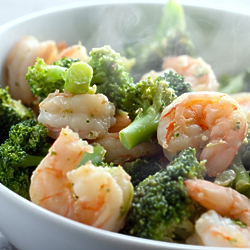 Shrimp Broccoli Ginger Stir Fry