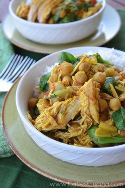 Slow Cooker Chicken Curry Chickpeas