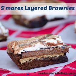 Smores Layered Brownies Recipe