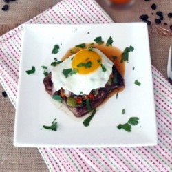 Steak and Eggs with Tomatillo Salsa