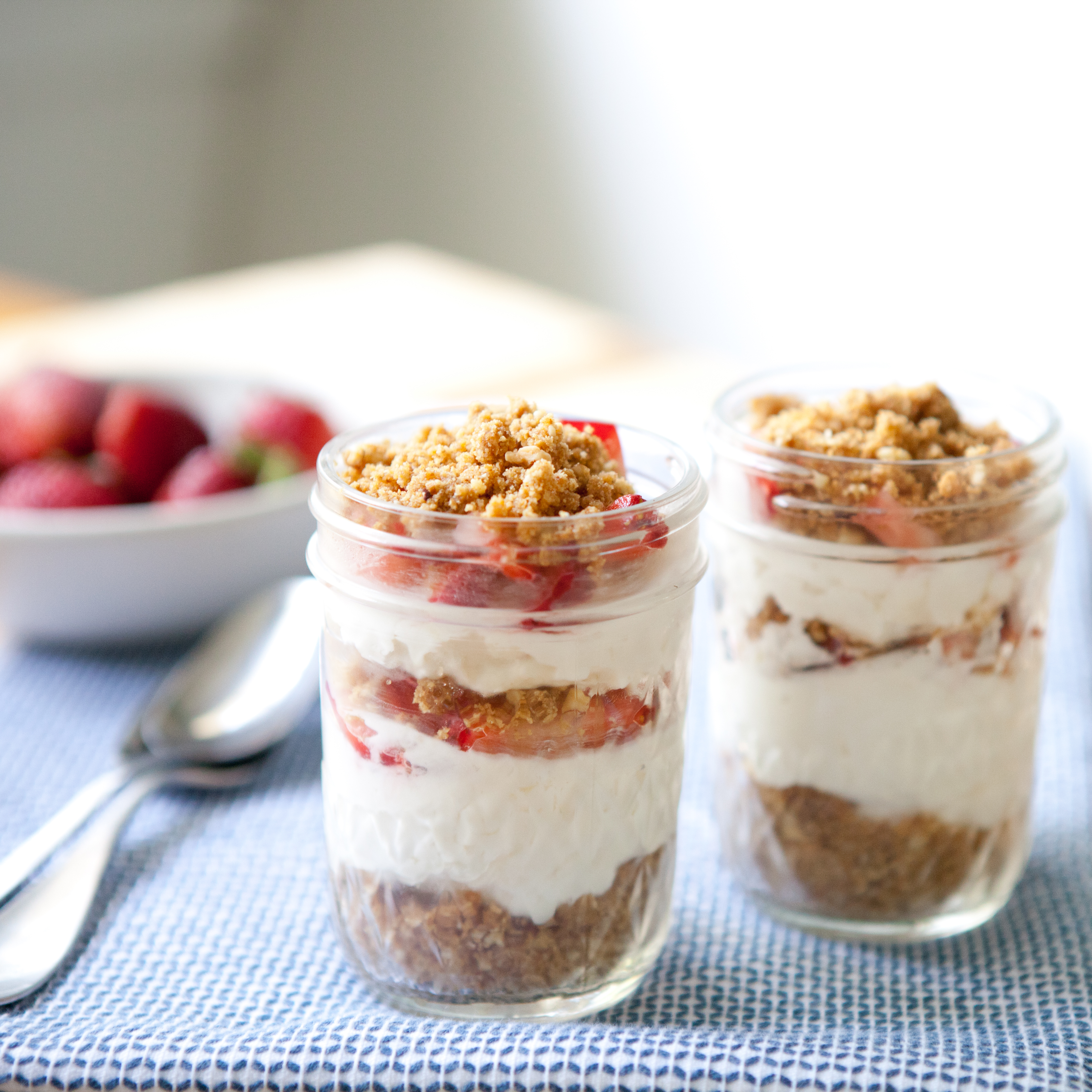 Strawberry Cheesecake Parfaits Recipe