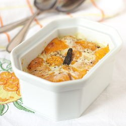 Sweet Potato Jam and Cheese Gratin