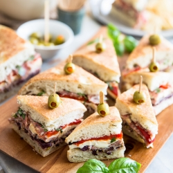 Tapenade Salami Sandwich Recipe
