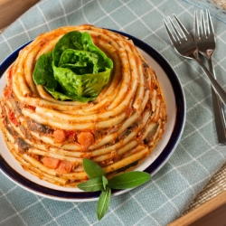 Timballo with Bucatini Pasta