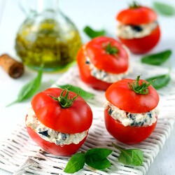 Tomatoes Stuffed with Tuna and Olives Recipe
