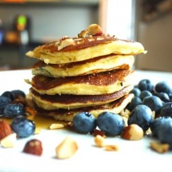 Almond Blueberry Pancakes Gluten Free Recipe
