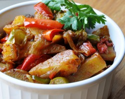 Aloo Shimla Mirch Indian Potatoes and Bell Peppers