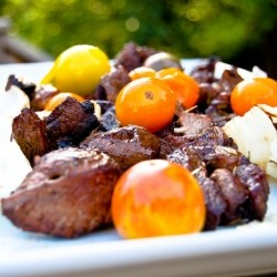 Balsamic Beef Kabobs for Flatbread Sandwiches