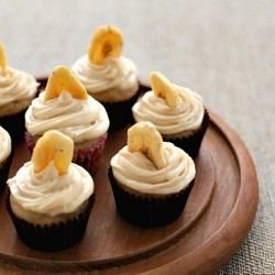 Banana Cupcakes with Caramel Cream Cheese Frosting