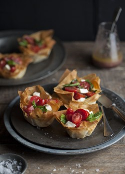 Caprese Salad in Phyllo Baskets Recipe