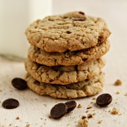 Chocolate Chip Toffee Almonds Cookies Recipe