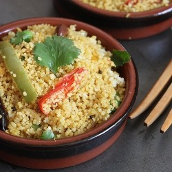 Couscous Pulao with Bell Peppers