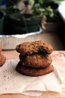 Flax Oats Chocolate Chip Cookies Recipe