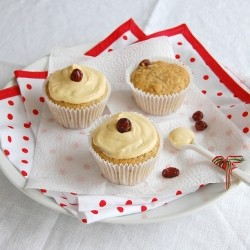 Fruit Mince Muffins with Eggnog Icing Recipe