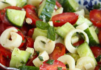 Hearts of Palm Cucumber Tomato Salad Recipe