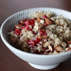 Honey Coconut Quinoa with Pomegranate