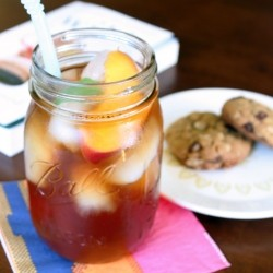 Peach Basil Iced Tea Recipe