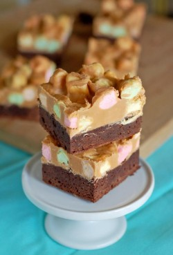 Peanut Butter Butterscotch Marshmallows Brownies Recipe