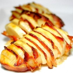 Potato Stuffed with Bacon Slices